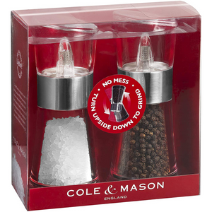 cole & Mason flip inverta salt & pepper grinder