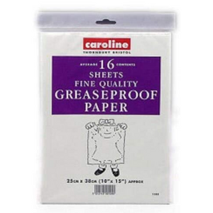 "Caroline Greaseproof Sheets (16) - 10"" x 15"" (25cm x 38cm)"