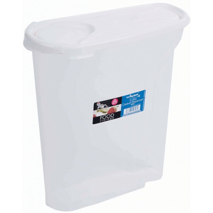 Wham Cereal Dispenser Food Storage - 5L White