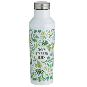 Pure Green New Black Double Wall Thermal Bottle 500ml