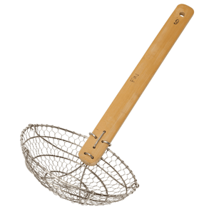 School of Wok Metal Wok Strainer with Bamboo Handle