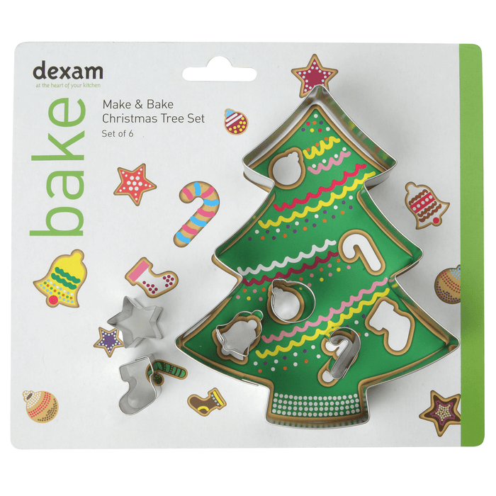 Dexam Make & Bake Christmas Tree Cookie Cutter Set of 6
