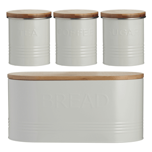 Typhoon Essentials 4pc Storage Jar Set Cream