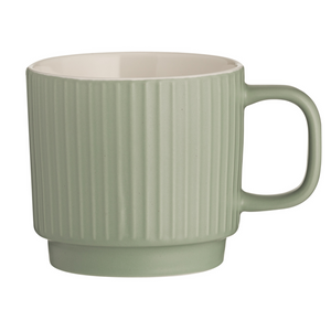 Mason Cash Embossed Line Mug - Green