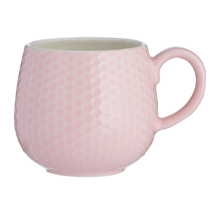 Mason Cash Embossed Honeycomb Mug - Pink