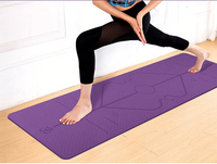 Yoga Mat With Position Line Non Slip Carpet Mat