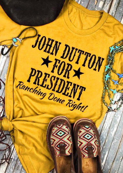 John Dutton For President Star T-Shirt