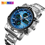 Luxury Quartz Watch Men's Watch Digital Clock Fashion Man Wristwatches Countdown Water Resistant Multifunction Relogio Masculino