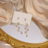 Gold Plated Crystal Vine Earrings