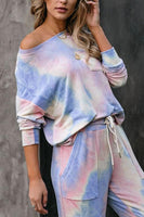 IceyChic Tie Dye Pocketed Sweatsuit-IceyChic Fashion