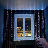 LED Fairy Lights Garland Curtain For New Year Christmas Decorations With Remote Control