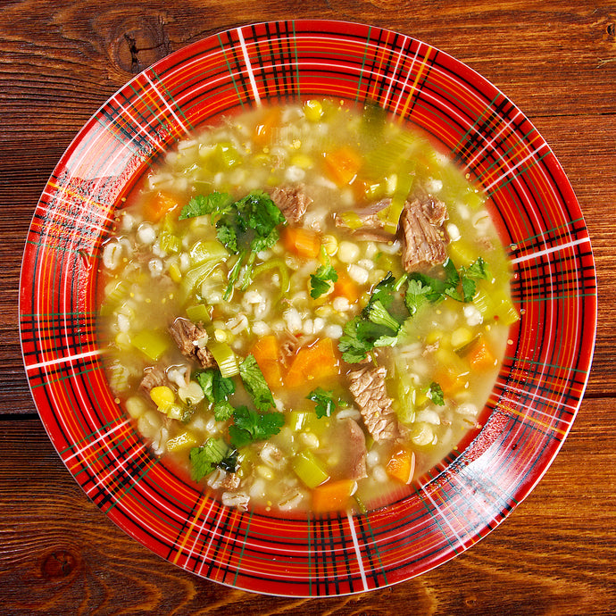 Traditional Scotch Broth Married with Cabernet Franc