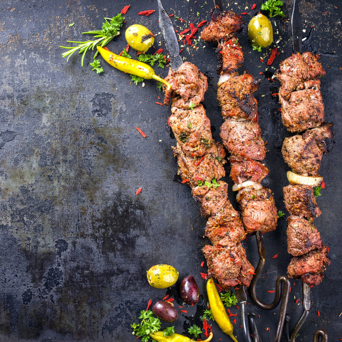 Wine & Food Pairing Recipes . Greek Lamb Souvlakia with Malbec