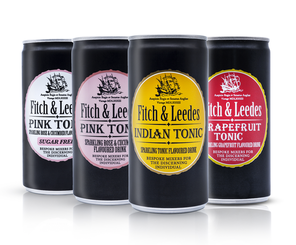 Fitch & Leedes Mixed Case Tonics Cans