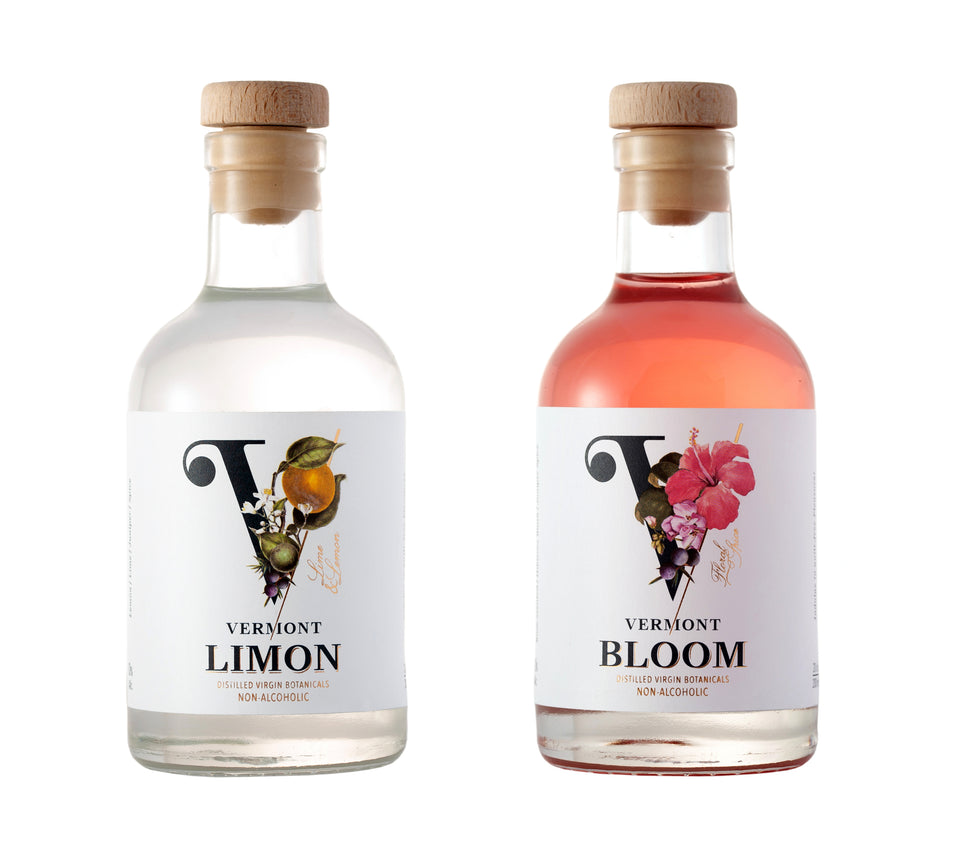 Vermont Vergin Duo Pack Bloom & Lemon Non-Alcoholic Distilled Botanical Spirit Christmas Pack