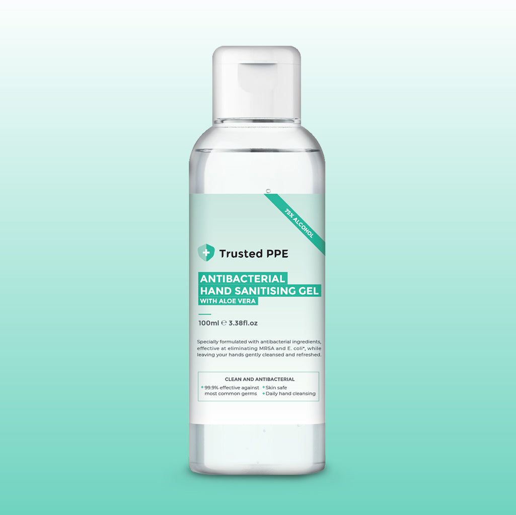 100ml Antibacterial Hand Sanitising Gel (75% Alcohol)