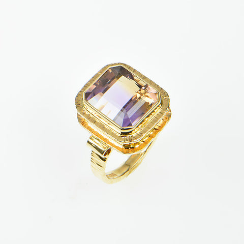 Ametrine Faceted Ring