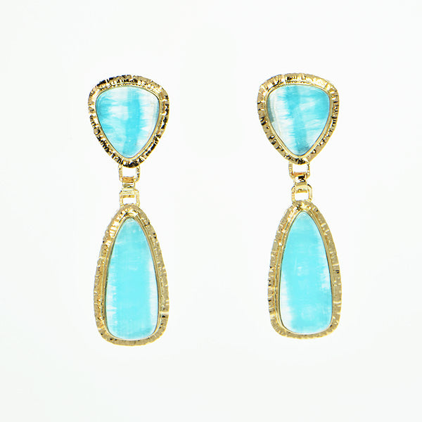 Hemimorphite Cabochon Earrings