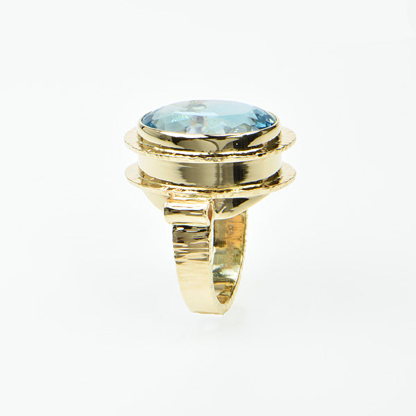 Natural Blue Faceted Ring