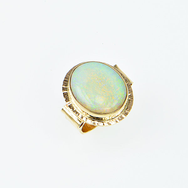 Crystal Opal Cabochon Ring