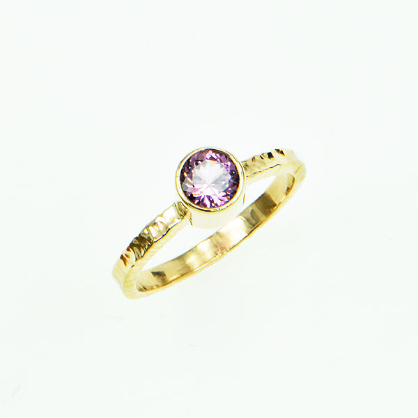 Lavender Ceylon Spinel Faceted Ring