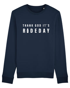 "Çois Cycling Sweater "" Thank God It's Rideday"""