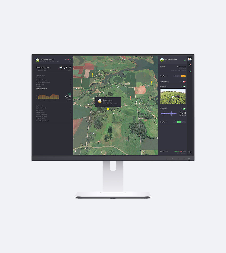 SmartFarm — Online Command and Control Platform (1 Year) - FieldMicro