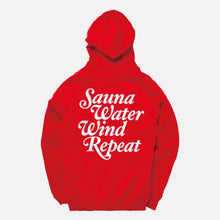 "画像をギャラリービューアに読み込む, TTNE Small Box Logo Message Hooded Sweatshirt ""Repeat"" - Sauna Red"