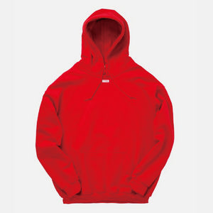 "TTNE Small Box Logo Message Hooded Sweatshirt ""Repeat"" - Sauna Red"