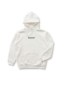 Saunner ™ Logo Hooded Sweatshirt - White