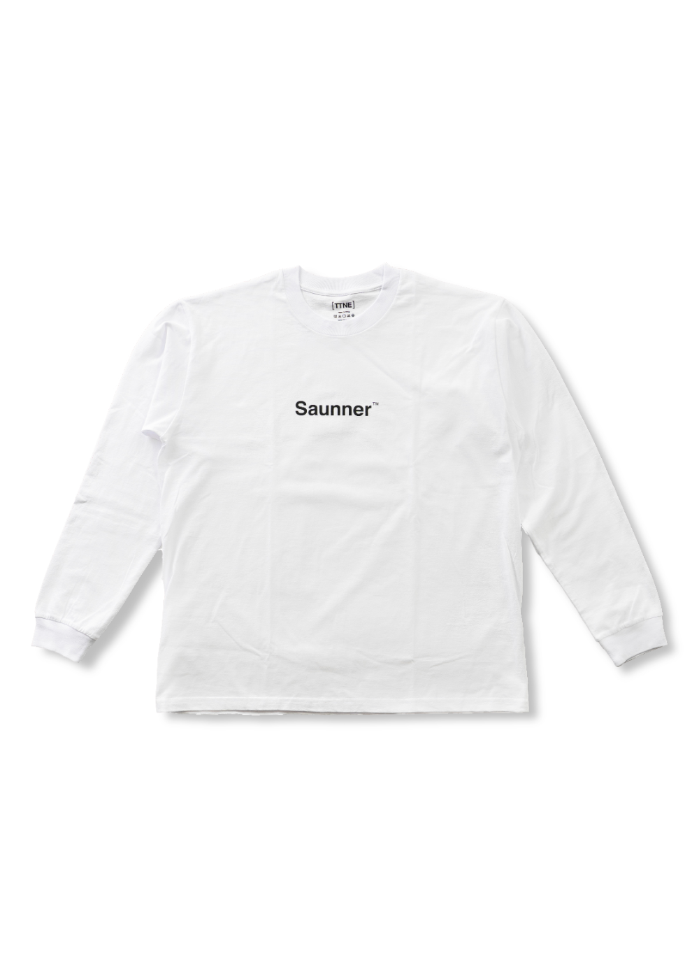 Saunner ™ Logo Long Sleeve Tee - White