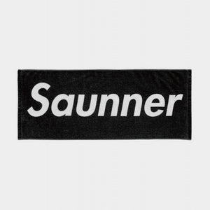 Saunner Box Logo Face Towel - Black