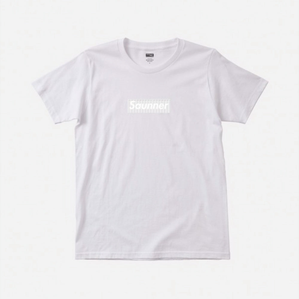 Saunner Box Logo Tee - Limited Model (SAIL HUS ver.)