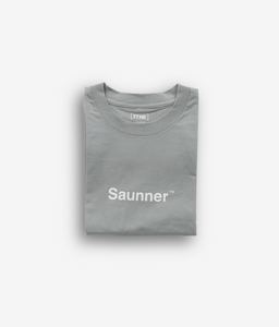 Saunner ™ Logo Tee - Light Gray