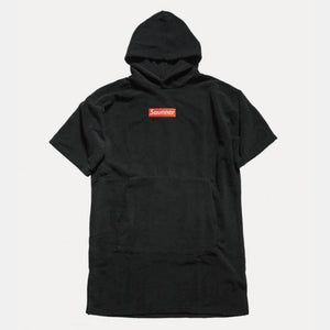 Saunner Box Logo Hooded Poncho - Black