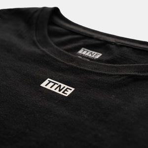 "TTNE Small Box Logo Tee""Repeat"" Black"