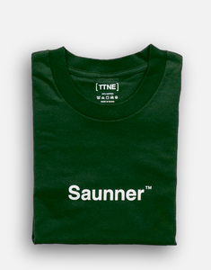 Saunner ™ Logo Long Sleeve Tee - Dark Green