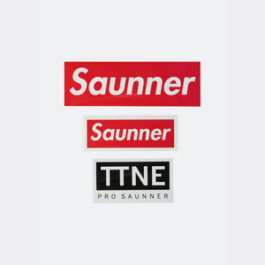 Saunner & TTNE Box Logo Stickers