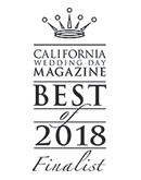 California Wedding Day Magazine Best of Bridal - Finalist 2018 - Jewelry & Accessories