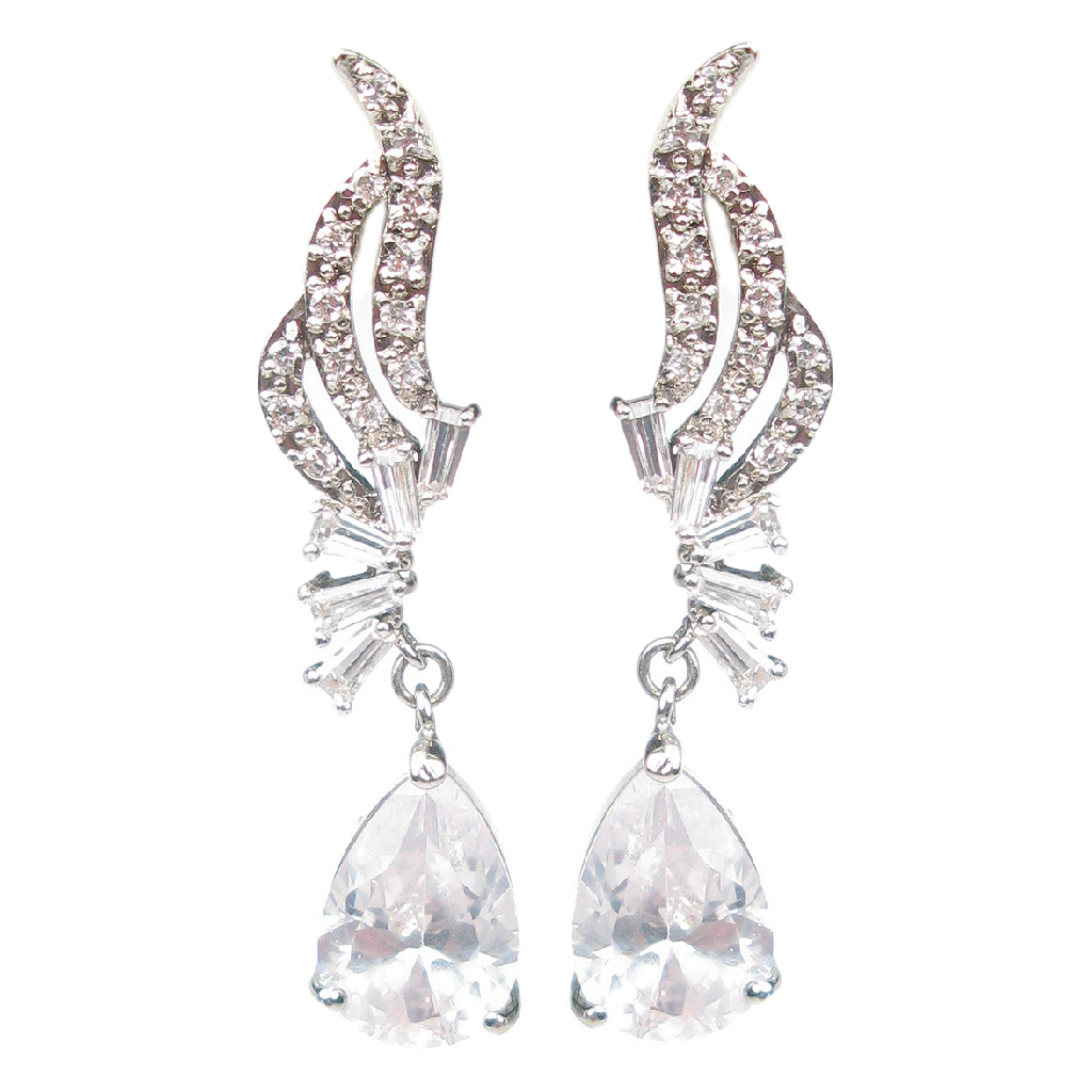 Margaret Rowe Couture Jewelry Evening Escapade Drop Diamontage™ Earrings for special occasion, bridal, evening wear and day wear