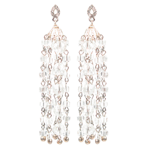 One-Of-A-Kind Sterling Chandelier Celebration Earrings