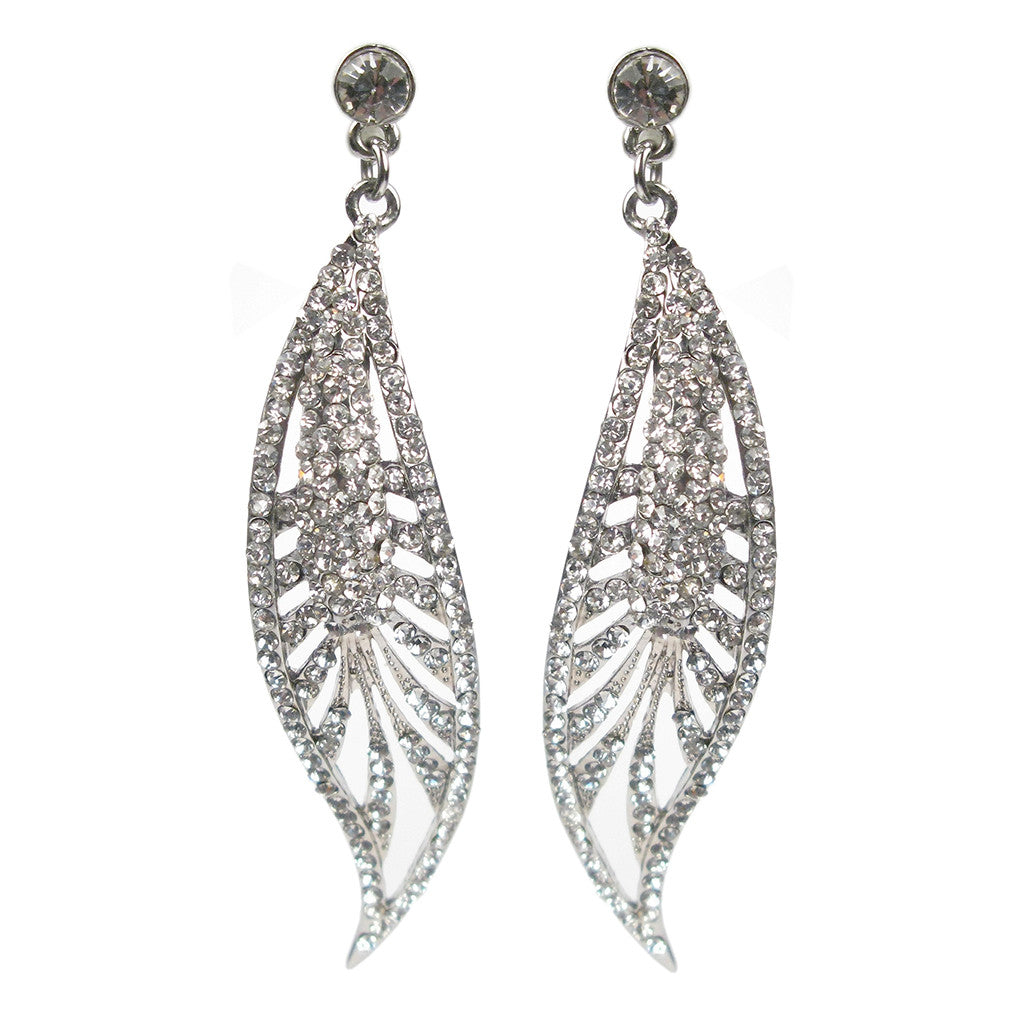Sultry Nouveau Leaf Earrings