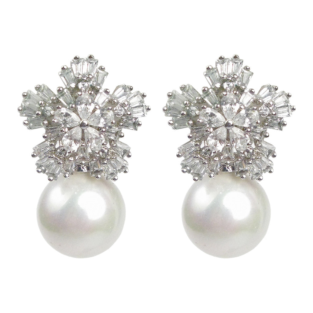 Pearl Snowflake Diamontage™ 5.6 Carat Earrings