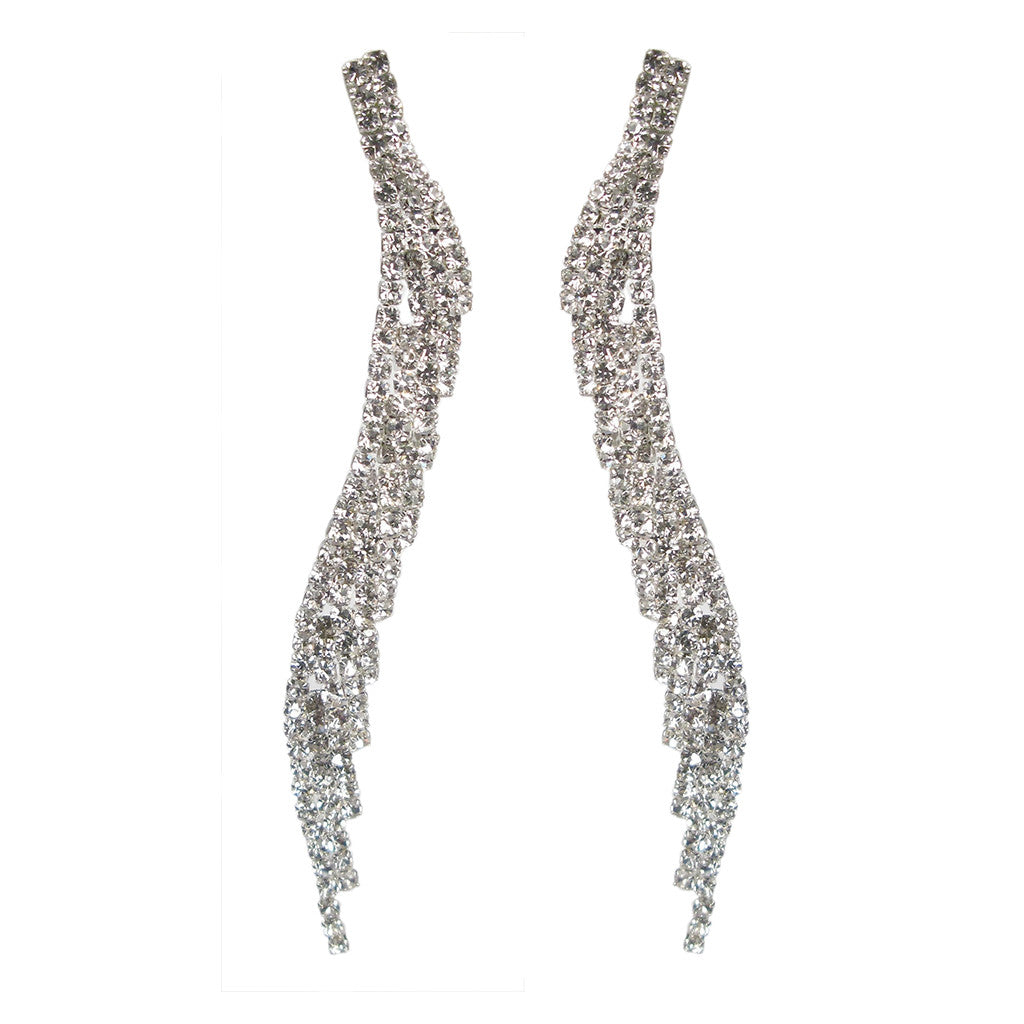 Crystal Encrusted Angel Wing Earrings