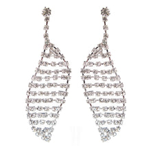 Load image into Gallery viewer, Deco Leaf Czech Crystal Earrings