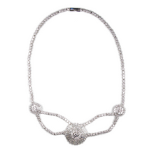 Load image into Gallery viewer, Tres Cirque Baguette Diamontage™ 12.56 Carat Necklace & Headpiece