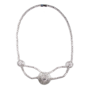 Tres Cirque Baguette Diamontage™ 12.56 Carat Necklace & Headpiece
