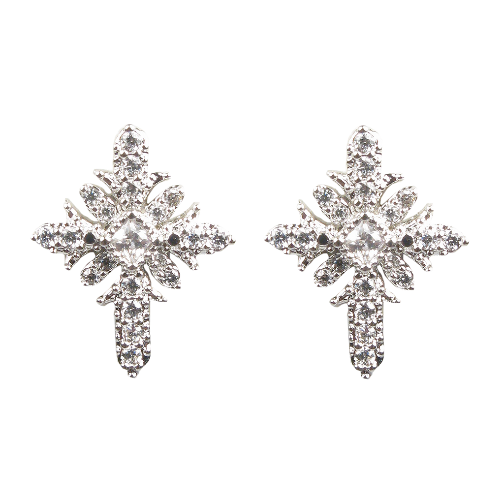 Floral Cross Diamontage™ 2.4 Carat Earrings