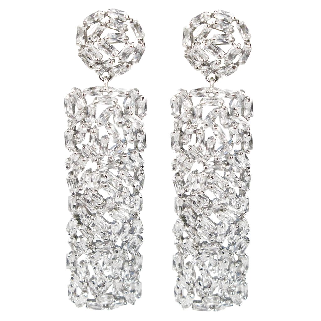 Contemporary Artisté Baguette Collage Diamontage™ 18.58 Carat Earrings