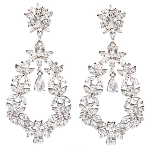 Marquise Floral Crest Diamontage™ 17.40 Carat Earrings